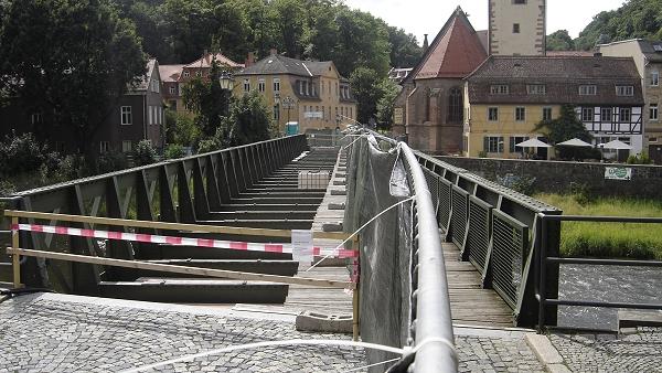 Untermhäuser Brücke am 26. Juli 2009