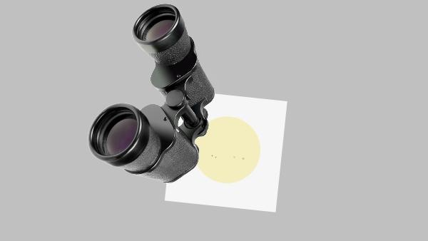Sonnenprojektion